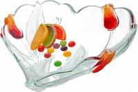 Конфетница Walter-Glass Nadin Satin-Red-Gold сердце 6147WG (16 см)