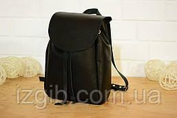 Компактный женский рюкзачок на затяжках  11901  Черный