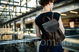 Компактный женский рюкзачок на затяжках  11903  Коричневый
