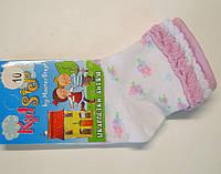 Носки белого цвета в цветочки для новорожденных