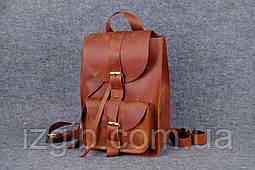 Рюкзак из натуральной кожи  11906  Коньяк