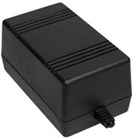 Корпус пластиковий Z-66 ABS, чорний (65,7х78,8х132)