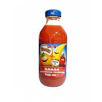 Сок натуральный  Dizzy Banan-pomarancza-truskawka  330 ml.