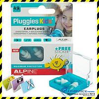 Беруши №1 ДЛЯ ДЕТЕЙ Alpine Kids Pluggies + ПОДАРОК! Голландия., фото 1