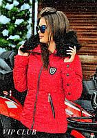 Стильная женская куртка красного цвета