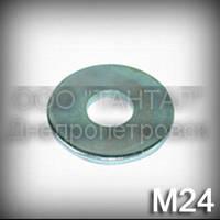 Шайба 24 збільшена ГОСТ 6958-78 (DIN 9021, ISO 7093) оцинкована плоска