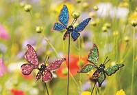 """Декор для горшков, растений """"Бабочка маленькая"""" 54см."""