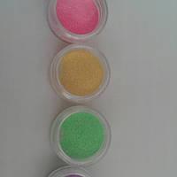 Набор бархатного песка для матового дизайна ногтей 4 шт