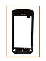 Сенсор (тачскрин) Nokia C5-03 с рамкой Black Original