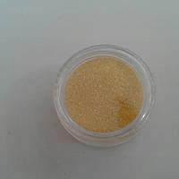 Бархатный песок для дизайна ногтей желтый