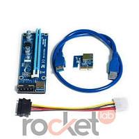 PCI-E райзеры с molex подключением в исполнении USB 3.0 версия 006S С УГЛОВЫМ ШТЕКЕРОМ USB