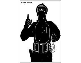 Силуэтная мишень «Террорист» - упаковка 10 штук