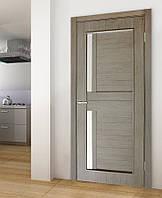 Двери межкомнатные Амелия полотно остекленное сосна мадейра