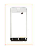 Сенсор (тачскрин) Nokia C5-03 с рамкой White Original