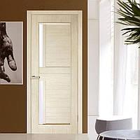 Двери межкомнатные Амелия полотно остекленное сосна сицилия