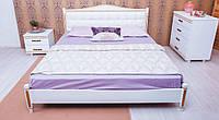 Кровать полуторная Монако с мягким изголовьем