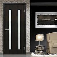 Двери межкомнатные Вероника полотно остекленное  венге, фото 1
