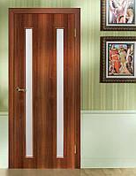 Двери межкомнатные Вероника полотно остекленное орех