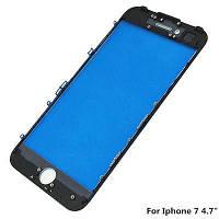 Стекло iPhone 7 (4.7) айфон с рамкой, цвет черный