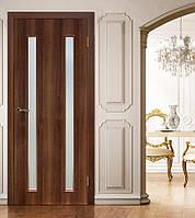 Двери межкомнатные Вероника СС+КР орех, фото 1