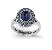 """Кольцо """"Навогеро"""" с кристаллами Swarovski, покрытое серебром (r4683044)"""