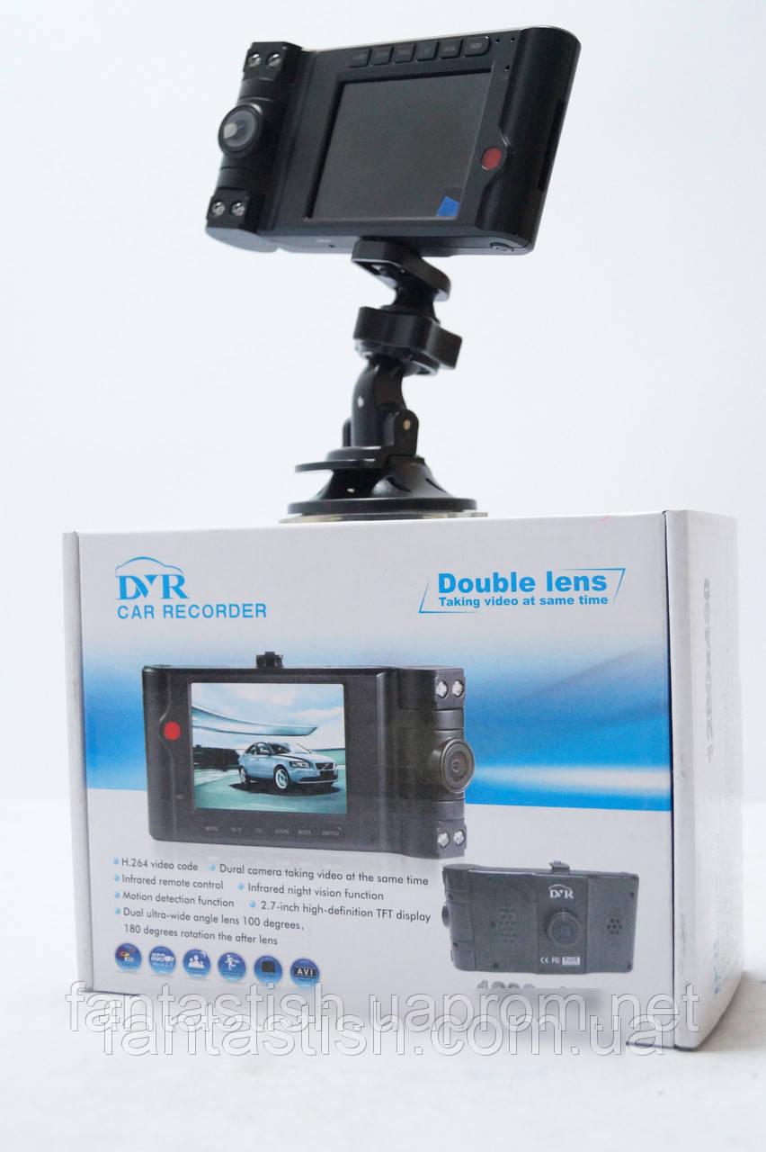 """Автомобильный Видеорегистратор Vehicle Double Lens HD 2 камеры DJV/65 - Магазин красоты и удовольствий """"Фантастиш"""" в Харькове"""