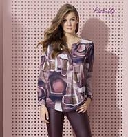 Блуза сливового цвета с принтом Zaps Kamisa