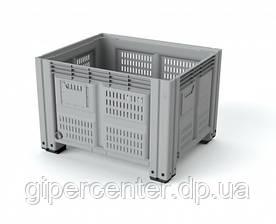 Пластиковый контейнер 1200х1000х760 мм перфорированный 4 ножки
