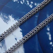 Срібний ланцюжок, 550мм, 25 грам, плетіння Пітон, чорніння, фото 3