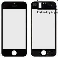Защитное стекло корпуса для iPhone 5S, SE, с рамкой, черное, оригинал