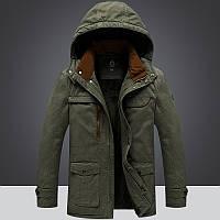 Демисезонная мужская куртка с мехом