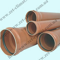 Труба для наружной канализации 250х4,9х4000 мм ПВХ