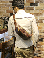 Мужская кожаная сумка. Модель 61371, фото 3