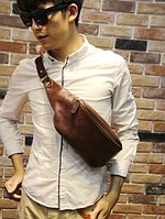 Мужская кожаная сумка. Модель 61371, фото 5