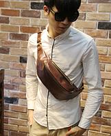 Мужская кожаная сумка. Модель 61371, фото 7