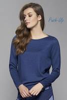 Классическая трикотажная блузка графитового цвета Zaps Eris