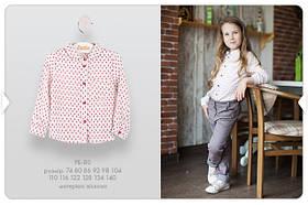 Блуза для девочек 4 года Молочный Вискоза РБ80(110) Бэмби Украина