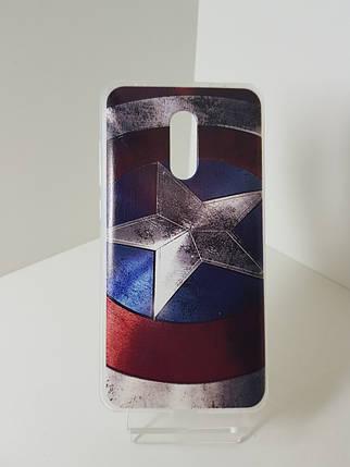 "Силиконовый чехол - бампер на Redmi Note 4X ""Капитан Америка"", фото 2"
