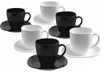 Чайный набор Carine Black&White , 12 предметов Luminarc d2371, фото 1