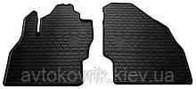 Резиновые передние коврики в салон Opel Corsa E 2014- (STINGRAY)