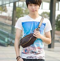 Мужская кожаная сумка. Модель 61372, фото 3