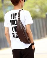 Мужская кожаная сумка. Модель 61372, фото 6