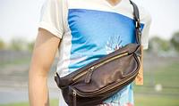 Мужская кожаная сумка. Модель 61372, фото 8