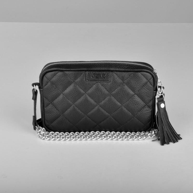 Кожаная сумочка-клатч
