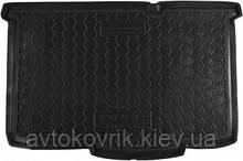 Полиуретановый коврик в багажник Opel Corsa E  2014- (5 дв. хетчбэк) (AVTO-GUMM)
