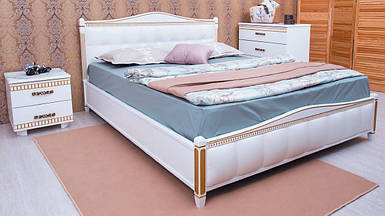 Кровать полуторная Прованс с мягким изголовьем квадраты