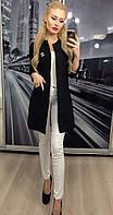"""Модный женский пиджак """"Шанель"""" с карманами, 42-56, черный"""