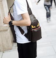 Мужская кожаная сумка. Модель 61374, фото 5