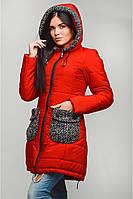 Оригинальное пальто А-силуэта с кулиской по низу Карман