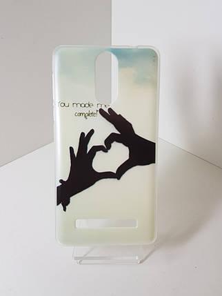 """Силиконовый чехол - бампер на  Leagoo M8 """"Love"""", фото 2"""